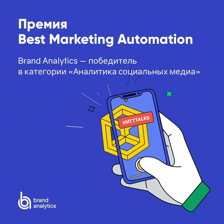 Brand Analytics лучшая система анализа соцмедиа в рейтинге Best Marketing Automation